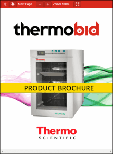 Thermo Scientific Heratherm Compact Microbiological Incubators Product Brochure
