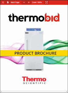Thermo Scientific Precision Low Temperature BOD Refrigerated Incubators Product Brochure
