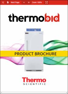 Thermo Scientific Precision Low Temperature BOD Refrigerated Incubators Product Brochure