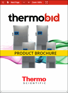 Thermo Scientific TSX Series Ultra-Low Freezers Product Brochure