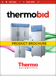 Thermo Scientific Revco High-Performance REL Series Laboratory Refrigerators Product Brochure