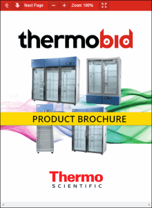 Thermo Scientific Revco High-Performance RGL Series Laboratory Refrigerators Product Brochure