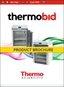 Thermo Scientific TSX Series High-Performance Undercounter Lab Refrigerators Product Brochure