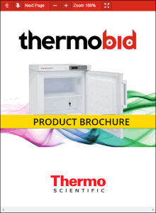 Thermo Scientific GPF Series -20°C Manual Defrost Countertop Freezers Product Brochure