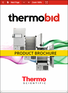 Thermo Scientific XBF40D -40°C Blast Freezers Product Brochure