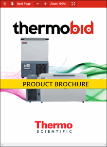 Thermo Scientific Revco CxF Series -86°C Ultra-Low Temperature Chest Freezers Product Brochure