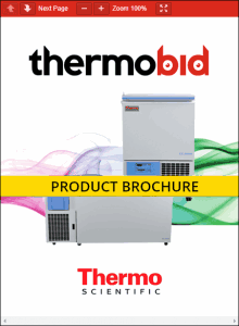 Thermo Scientific TSC Series -86°C Ultra-Low Temperature Chest Freezers Product Brochure