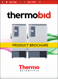 Thermo Scientific Revco ExF Series -86°C Upright Ultra-Low Temperature Freezers Product Brochure