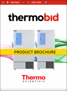 Thermo Scientific TSE Series -86°C Upright Ultra-Low Temperature Freezers Product Brochure