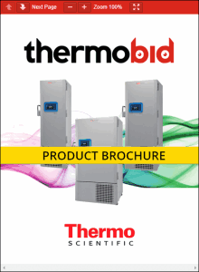 Thermo Scientific Revco RLE Series Ultra-Low Freezers Product Brochure