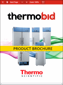 Thermo Scientific Revco Plasma Freezers Product Brochure