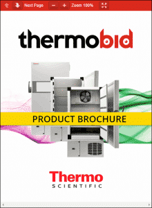 Thermo Scientific XBF40D-MD -40°C Blast Freezers Product Brochure