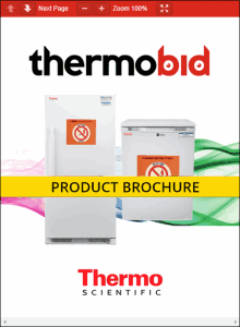 Thermo Scientific Flammable Material Storage Freezers Product Brochure