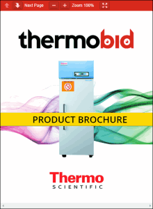 Thermo Scientific Revco Flammable Storage Freezers Product Brochure