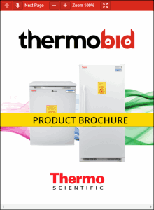 Thermo Scientific Explosion-Proof Freezers Product Brochure