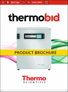 Thermo Scientific Heracell VIOS 250i Copper Chamber CO2 Incubators Product Brochure