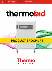 Thermo Scientific Heracell VIOS 160i Stainless Steel Chamber CO2 Incubators Product Brochure