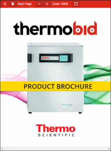 Thermo Scientific Heracell VIOS 250i Stainless Steel Chamber CO2 Incubators Product Brochure