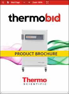 Thermo Scientific Heracell VIOS 160i Cell Locker CO2 Incubators Product Brochure