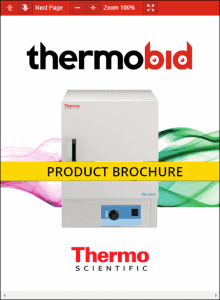 Thermo Scientific Precision Compact Ovens Product Brochure