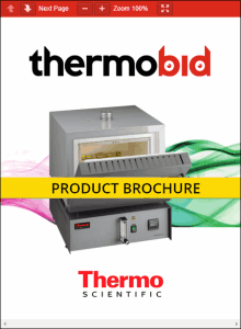 Thermo Scientific Thermolyne Atmosphere Controlled Ashing Furnace Product Brochure Product Brochure