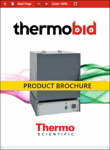 Thermo Scientific Thermolyne Largest Tabletop Muffle Furnace Product Brochure Product Brochure