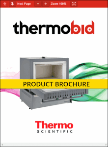 Thermo Scientific Thermolyne Premium Large Muffle Furnace Product Brochure Product Brochure