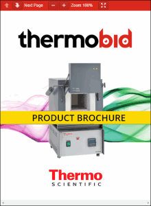 Thermo Scientific Thermolyne Industrial Benchtop Muffle Furnace Product Brochure Product Brochure