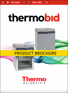 Thermo Scientific TSG Series Undercounter Refrigerators Product Brochure