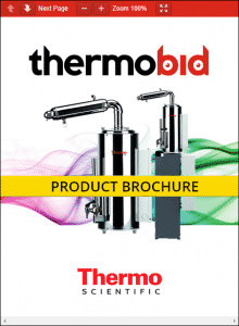 Thermo Scientific Barnstead Classic Stills Product Brochure