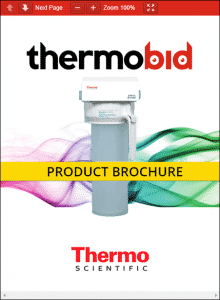 Thermo Scientific Barnstead 1/2 Size B-Pure Filters Product Brochure