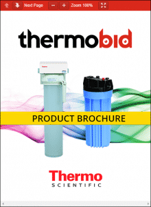 Thermo Scientific Barnstead 1/2 Size B-Pure Filter Holders Product Brochure