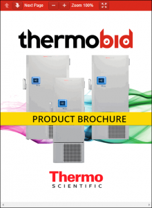 Thermo Scientific Revco RDE Series -40°C Ultra-Low Temperature Freezers Product Brochure