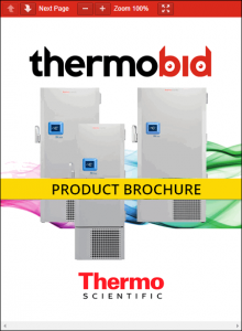 Thermo Scientific TDE Series -40°C Ultra-Low Temperature Freezers Product Brochure